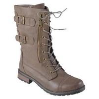 Womens' Journee Collection  Buckle Detail Lace-up Boots