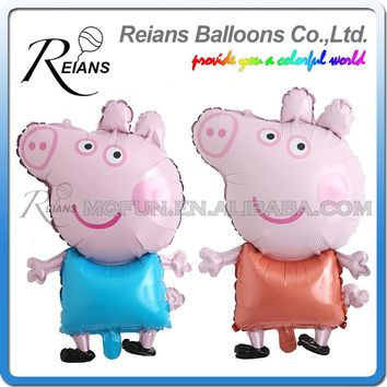 80cm Forest Newly Cute Pig Toy Children's Air Foil Balloons, Cartoon Pink Pig for Children Funny Party & Birthday Decoration