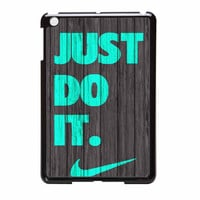 Nike Just Do It Wood Colored Darkwood Wooden Fdl iPad Mini 2 Case