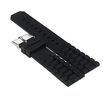 Watch Bands 2017 New Fashion Mens Black Silicone Rubber Diver Watch Band Strap For Fossil Nate 20mm 22mm Watchband