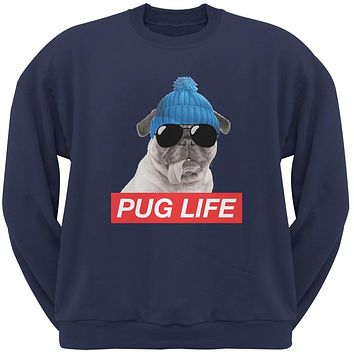 Pug Life Adult Navy Sweatshirt