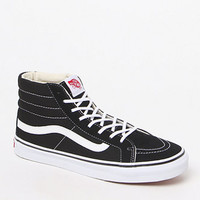 Vans Women's Black & White Sk8-Hi Slim Sneakers at PacSun.com