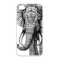 Protective Cool Cover Case Animal Elephant Design Case For Iphone 4 4s With Durable TPU Sides Ip4-AX50321