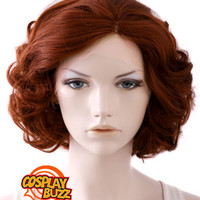 """10"""" Short Curly Reddish Brown Lace Front Synthetic Hair Wig LF253 - CosplayBuzz"""