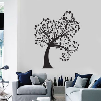 Wall Decal Tree Leaves Beautiful Home Decoration Art Vinyl Stickers (ig2851)