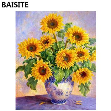 BAISITE Frameless DIY Oil Painting Pictures By Numbers On Canvas Wall Pictures Wall Art For Living Room Home Decoration 947
