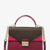 Sloan Color-Block Leather and Logo Satchel | Michael Kors