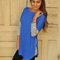 ROYAL TUNIC- STRIPED SLEEVES