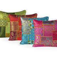 Brocade Decorative Pillow Covers, Indian Pillows & Cushions – Eyes Of India