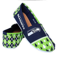 Seattle Seahawks Official NFL Canvas Slip-on Ugly Shoes