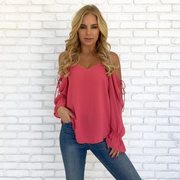 Women'S Strapless Chiffon Shirt