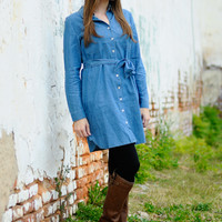 Classic Country Dress, Blue