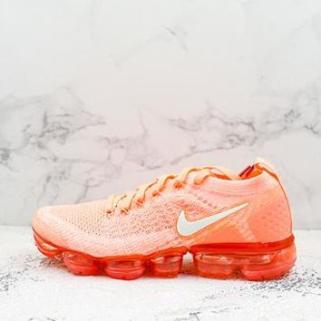 Nike Air Vapormax Flyknit 2.0 Crimson Pulse Orange Running Shoes - Best Deal Online