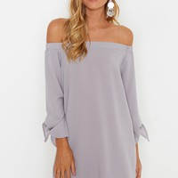Cloudy Daze Dress Grey - Dresses - Clothing