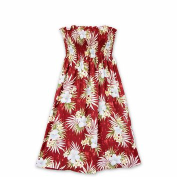 Hibiscus Isles Red Moonkiss Hawaiian Dress