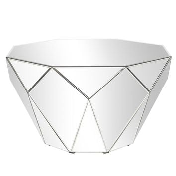 Faceted Mirrored Accent Table
