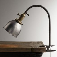 Industrial Era Task Clip Lamp Pewter