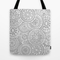Circle Doodle Art Tote Bag by Kate & Co.
