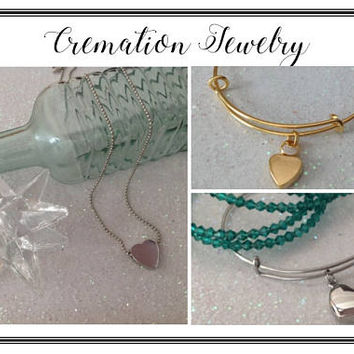 Cremation Jewelry, Memorial Jewelry, Cremation Urn, Pet Memory, Cremation Necklace, Gold Cremation Bracelet, Silver Cremation