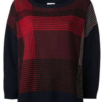 Band Of Outsiders plaid intarsia pullover sweater