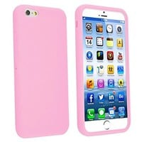 INSTEN Slim Fit Shock Absorbent Silicone Gel Soft Case for Apple iPhone 6 - Retail Packaging - Hot Pink