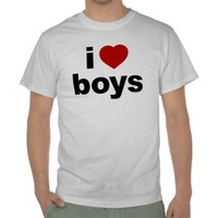 I Love Boys Value T-Shirt from Zazzle.com