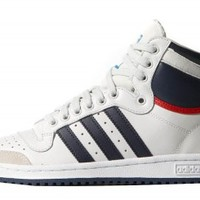 adidas originals Top Ten Hi Ftwr White / New Navy / Collegiate Red Man. Men´s shoes, Sneakers buy and offers on Dressinn