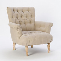 Gramercy Tufted Chair, Ivory