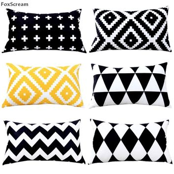 Rectangle Decorative Pillows Case Nordic style Throw Pillow Cover Velvet Cushions Cover Home Decor Geometric Cushion For Sofa