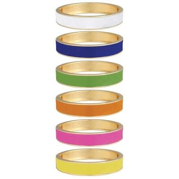 Bright & Beautiful Wide Gold & Enamel Hinge Bangle