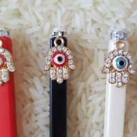 Personalized Chopsticks ~ Hamsa ~ Custom Chopsticks ~ Gifts for Her ~ Valentine's Day Gifts ~ Birthday Gifts ~ Hostess Gifts ~ Unique Gifts