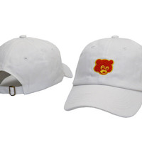 White Bear Embroidered Baseball Cap Hat