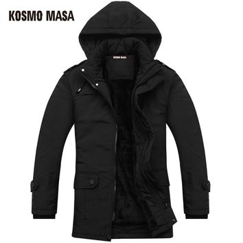 KOSMO MASA 2017 Cotton Hooded Winter Jacket Parka For Men Brand Clothes Coat Campera Puffer Jackets Mens Down Parkas P0005