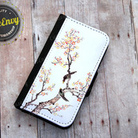 Birds on a branch iPhone 5/5s Wallet case