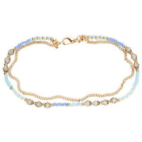 Pastel Chain/Bead Anklet