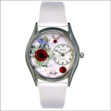 Birthstone Jewelry: July Birthstone Watch Small Silver Style