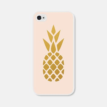 Blush Pink and Gold Pineapple iPhone 5c Case - Pineapple iPhone 5 Case - Pineapple iPhone 4 Case - Pineapple 5s Case Pineapple Phone Case