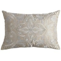 Platinum & Silver Embroidered Pillow
