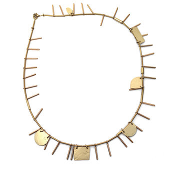 Annie Costello Brown - Cutout Shapes Sticks Necklace