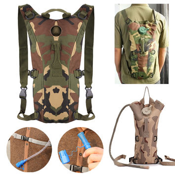 Hot Fashion Men Camouflage Camping Climbing Travel Backpack Sports Backpack