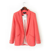 Candy Color Long Sleeve Blazer