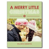 Merry Little Christmas Holiday Postcard