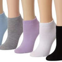 Capezio Women's No Show Liner With 5-pair Pre-pack Socks