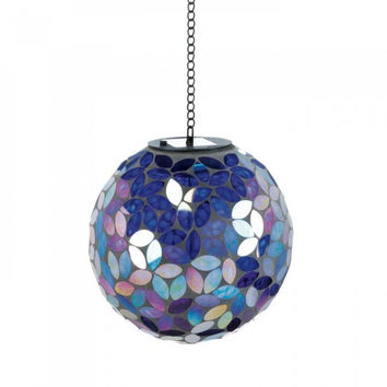Shades Of Blue Solar Mosaic Ball