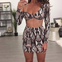 Snakeskin Two-Piece Party Dress