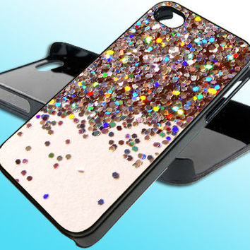 Sparkle Glitter for iPhone 4/4s Case - iPhone 5 Case - Samsung S3 - Samsung S4 - Black - White (Option Please)