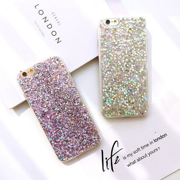Twinkle Bling Bling Cute Case for iPhone 7 7Plus & iPhone se 5s 6 6 Plus Best Protection Cover +Gift Box