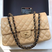 *Limited Edition* 100% Auth CHANEL Lambskin Classic 2.55 Double Flap Bag France