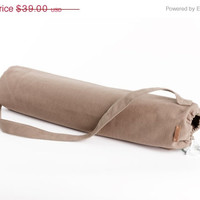 Spring Sale yoga tapis sac -  yoga mat bag - Yoga Bag - yoga accessoires - Beige Yoga Bag