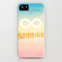 Forever Young iPhone Case by MN Art | Society6
